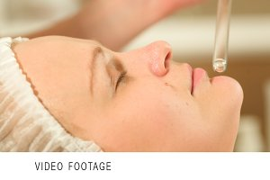 Facial procedure at beauty spa with