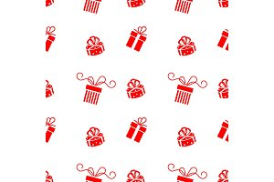 Set of vector Christmas gift box.
