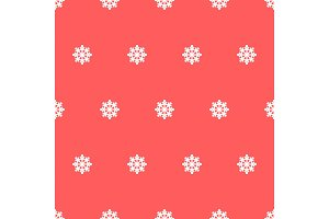 Seamless pattern of snowflakes.
