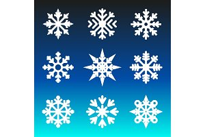 Christmas winter snowflakes.
