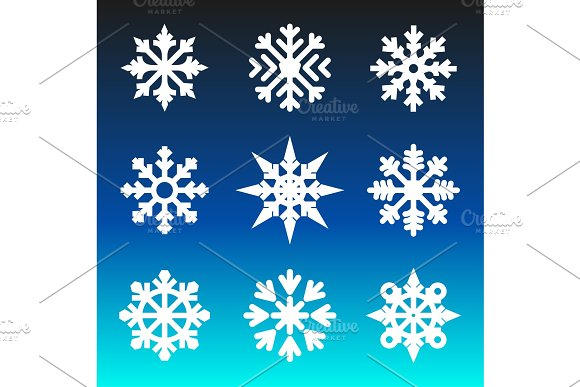 Christmas winter snowflakes.