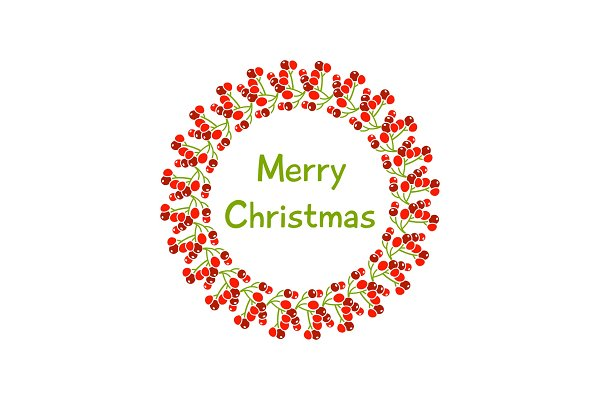 A beautiful Christmas wreath with a…