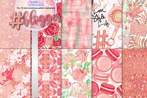 Blogger seamless pattern collection