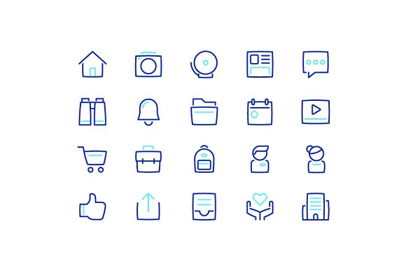 Social Bloated Icons