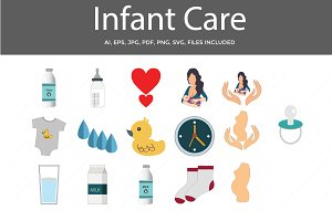 Infant Care Vector Icons
