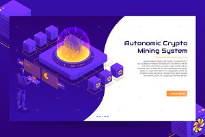 Isometric crypto mining concepts