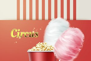Popcorn with cotton candy