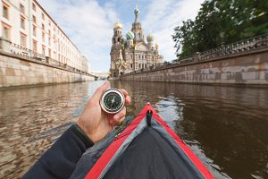 Kayaking in Saint-Petersburg.