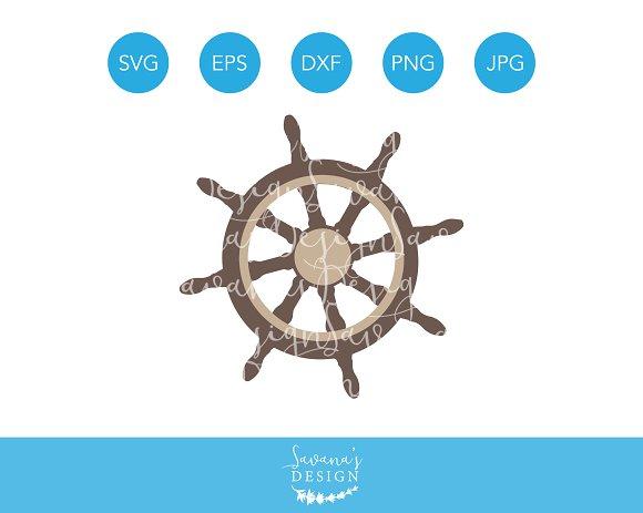 Ship Wheel SVG Cutting File