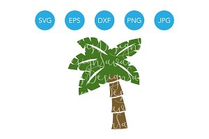 Palm Tree SVG Cutting File