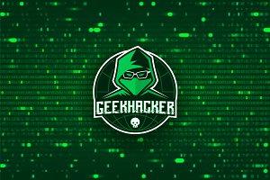 Geek Hacker logo template
