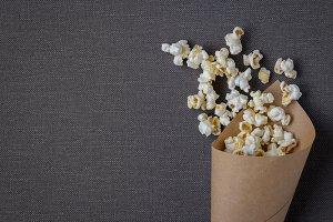 Bag with popcorn