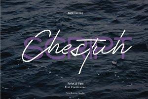 Chestuh script and sans | Font duo
