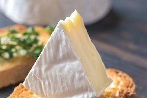 Toast with Camembert cheese