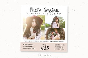Mini Session Photoshop Template