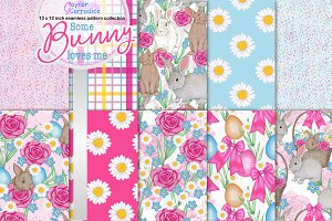 Some bunny loves me pattern set