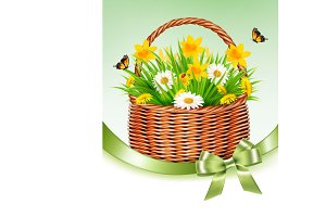 Easter Holiday Background. Vector