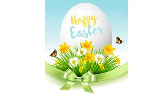 Easter Sale Background. Vector