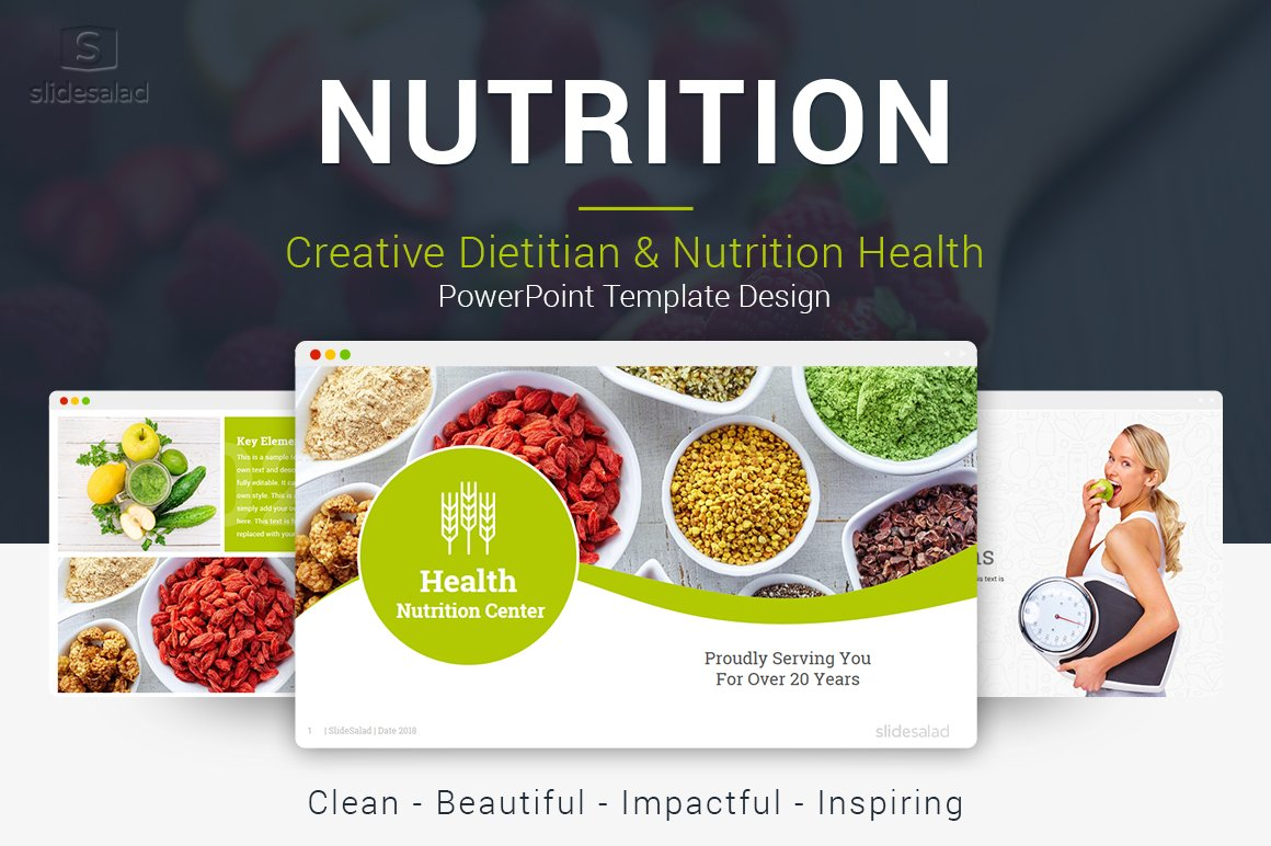 top nutrition powerpoint template presentation templates creative market