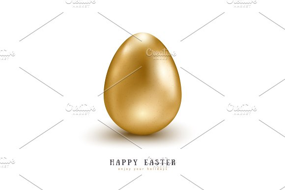 Realistic Golden Egg