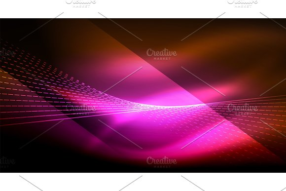 Smooth Light Effect Straight Lines On Glowing Shiny Neon Dark Background Energy Technology Idea
