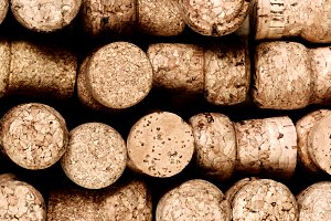 Champagne Corks Background