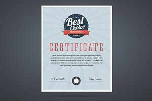 Best choice certificate.