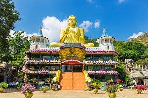The Golden Temple in Sri Lanka