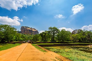 Sigiriya Rock in Sri Lanka.