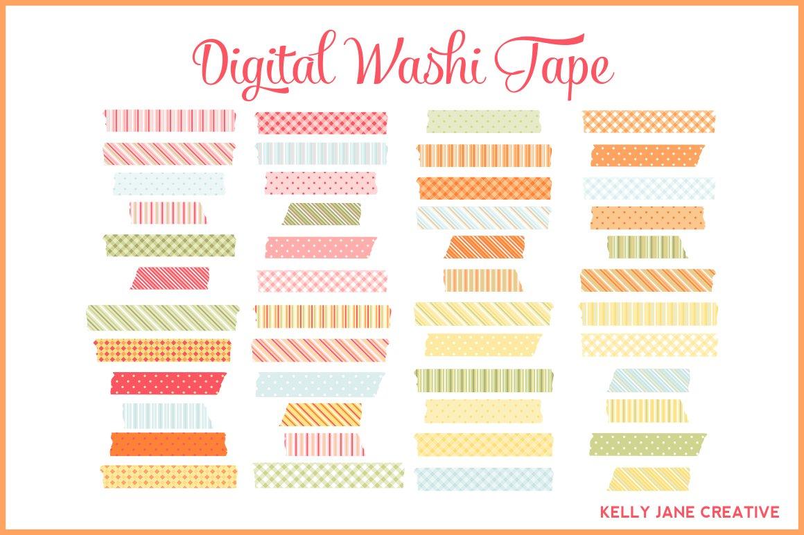 Digital Washi Tape Illustrations Creative Market