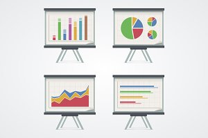 Set of presentation boards