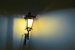 Street lamps. Shadow and light.