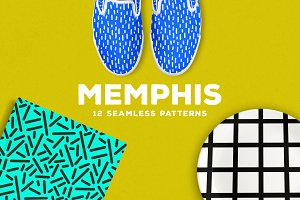 Memphis Seamless Patterns