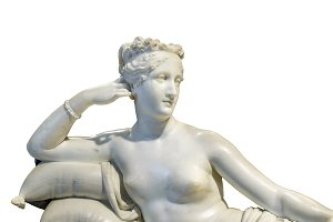 Woman on Pose Sculpture Isolated Photo