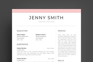 Resume Template Word Modern Clean CV