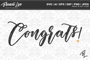 Congrats SVG Cut Files
