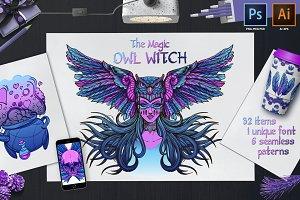 Witch Owl. Magic set