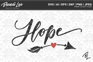 Hope SVG Cut Files