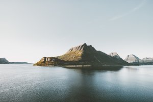 Mountains and sea fjords Landscape