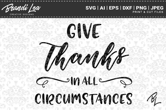Give Thanks In All Circumstances SVG