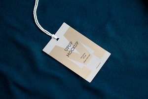 Clothes label tag blank mockup