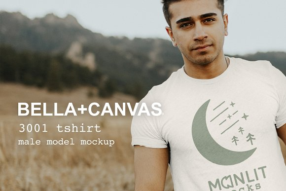 Bella Canvas 3001 Shirt Model Mockup