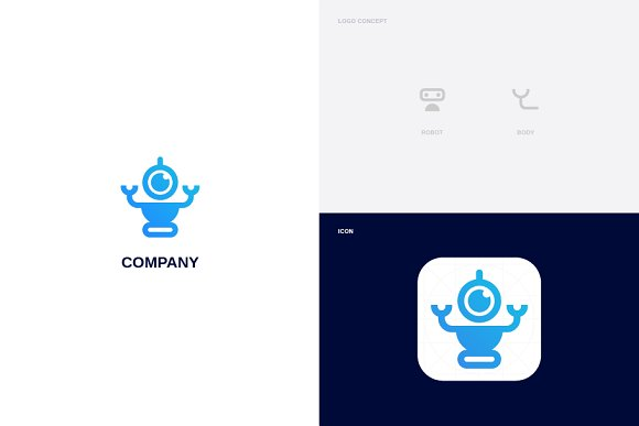Robot Body Logo Template