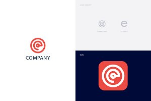 Connecting + Letter E Logo Template