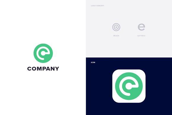 Reach Letter E Logo Template