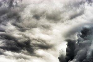Dramatic dark cloudscape overcast background