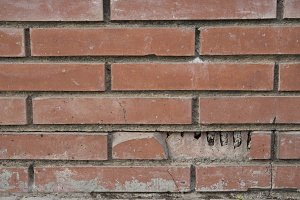Brick wall pattern texture background in light beige tone