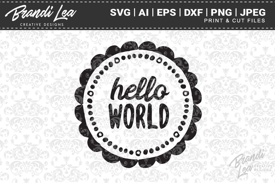 Hello World SVG Cut Files in Graphics - product preview 8
