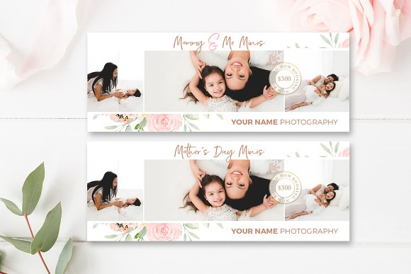 Mommy Me Facebook Cover PSD
