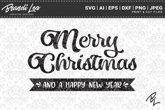 merry christmas svg cut files graphics